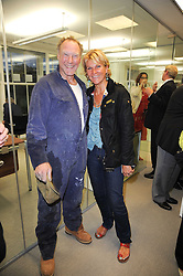Artist NIC FIDDIAN-GREEN and his wife HENRIETTA at reception to see the installation of Horse at Water by Nic Fiddian-Green at Marble Arch, London on 14th September 2010.