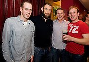 David Brennan, Paul Connell, Paul Madden, Kiltullagh with Connacht Captain John Muldoon at the Guinness Area22 event in the Carlton Hotel Galway.