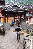 Chine. Province du Guizhou. Village Dong de Zhaoxing. // China. Guizhou province. Dong village of Zhaoxing.