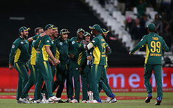 South Africa celebrate after beating Australia to win the series 5-0 during the 5th ODI match between South Africa and Australia held at Newlands Stadium in Cape Town, South Africa on the 12th October  2016<br /> <br /> Photo by: Shaun Roy/ RealTime Images