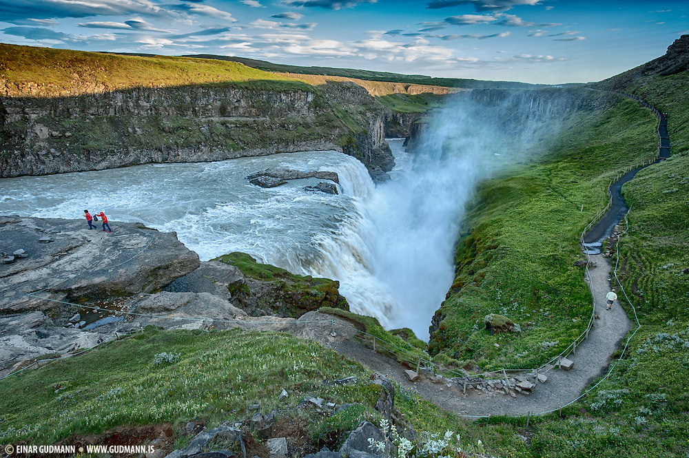 Gullfoss, waterfall in south-Iceland.