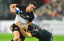 New Zeland 's Codie Taylor during a rugby union international match at Stade de France stadium in Saint Denis, outside Paris, France, Saturday, Nov. 11, 2017Photo by Christian<br /> Liewig/ABACAPRESS.COM