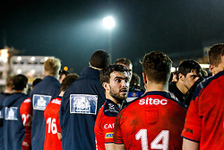 Bristol United replacement Craig Hampson looks on - Mandatory byline: Rogan Thomson/JMP - 28/12/2015 - RUGBY UNION - The Recreation Ground - Bath, England - Bath United v Bristol United - Aviva A League.