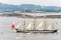 Norway, Randaberg. Tall Ships Race in Stavanger 2011. Goodbye, fare thee well! Kruzenshtern.