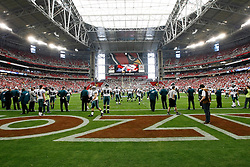 18 Jan 2009: A View from the Philadelphia Eagles endzone before the NFC Championship game against the Arizona Cardinals on January 18th, 2009. The Cardinals won 32-25 at University of Phoenix Stadium in Glendale, Arizona. (Photo by Brian Garfinkel)