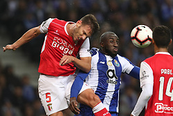 November 10, 2018 - Porto, Porto, Portugal - Porto's Algerian forward Yacine Brahimi (R) vies with Sporting Braga's Portuguese defender Nuno Sequeira (L) during the Premier League 2018/19 match between FC Porto and SC Braga, at Dragao Stadium in Porto on November 9, 2018. (Credit Image: © Dpi/NurPhoto via ZUMA Press)