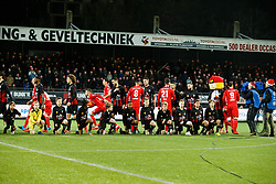 line up Jeffry Fortes of Excelsior, Wout Faes of Excelsior, Thomas Lam of FC Twente, Hicham Faik of Excelsior, Oussama Assaidi of FC Twente, Kevin Vermeulen of Excelsior, Danny Holla of FC Twente, Anouar Hadouir of Excelsior, Stanley Elbers of Excelsior, Tom Boere of FC Twente during the Dutch Eredivisie match between sbv Excelsior Rotterdam and FC Twente at Van Donge & De Roo stadium on December 23, 2017 in Rotterdam, The Netherlands