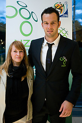 Grilc and Samir Handanovic at official presentation of Slovenian National Football team for World Cup 2010 South Africa, on May 21, 2010 in Congress Center Brdo at Kranj, Slovenia. (Photo by Vid Ponikvar / Sportida)