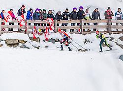 02.03.2019, Seefeld, AUT, FIS Weltmeisterschaften Ski Nordisch, Seefeld 2019, Nordische Kombination, Langlauf, Team Bewerb 4x5 km, im Bild v.l. Franz-Josef Rehrl (AUT), Johannes Rydzek (GER) // f.l. Franz-Josef Rehrl of Austria and Johannes Rydzek of Germany during the Cross Country Team competition 4x5 km of Nordic Combined for the FIS Nordic Ski World Championships 2019. Seefeld, Austria on 2019/03/02. EXPA Pictures © 2019, PhotoCredit: EXPA/ Stefan Adelsberger