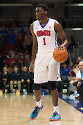 DALLAS, TX - JANUARY 7: Shake Milton #1 of the SMU Mustangs brings the ball up court against the Cincinnati Bearcats on January 7, 2016 at Moody Coliseum in Dallas, Texas.  (Photo by Cooper Neill/Getty Images) *** Local Caption *** Shake Milton