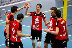 20150404 NED: Eredivisie Prins VCV - Inter Rijswijk, Veenendaal<br />Tom Kottink (2), Nico Manenschijn (7) of Prins VCV<br />©2015-FotoHoogendoorn.nl / Pim Waslander