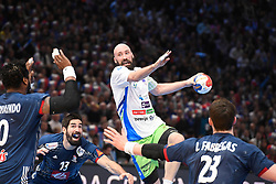 Kavticnik Vid during 25th IHF men's world championship 2017 match between France and Slovenia at Accord hotel Arena on january 24 2017 in Paris. France. PHOTO: CHRISTOPHE SAIDI / SIPA / Sportida