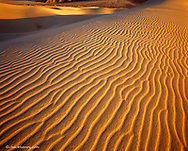 Sand dune patterns at Mesquite Flats in Death Valley National Park in California