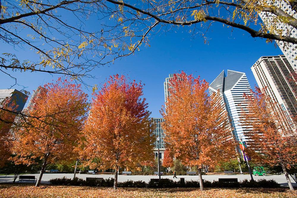 Chase Promenade walkway in Millennium Park, Chicago, Il, USA..