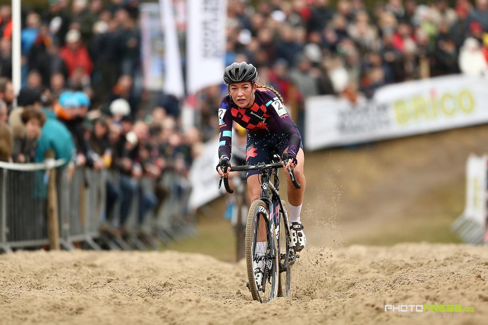 BELGIUM / MALDEGEM / CYCLING / WIELRENNEN / CYCLISME / CYCLOCROSS / VELDRIJDEN / PARKCROSS / DE BOER SOPHIE (NED) /