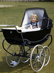A family picture of Lady Diana Spencer in her pram at Park House, Sandringham, Norfolk.
