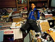 S-Express DJ Mark Moore at home London 2005
