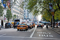 street scene on fifth avenue in New York City in October 2008