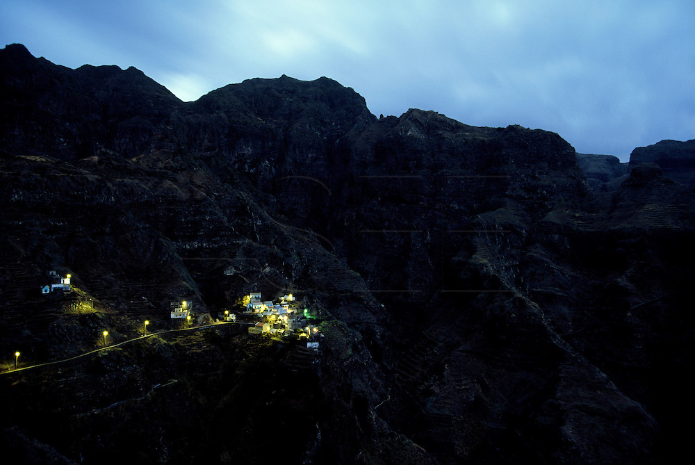 Fontainhas village in the north coast of Santo Antao is an extraordinary scenery. To go there it takes one hour, because distances are time measured in Santo Antao.