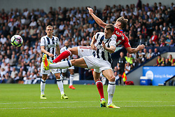 Darren Fletcher of West Bromwich Albion is challenged by Gaston Ramirez of Middlesbrough - Rogan Thomson/JMP - 28/08/2016 - FOOTBALL - The Hawthornes - West Bromwich, England - West Bromwich Albion v Middlesbrough - Premier League.