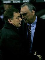 Photo: Steve Bond/Sportsbeat Images.<br /> Derby County v Chelsea. The FA Barclays Premiership. 24/11/2007. Avram Grant (R) and Billy Davis (L)