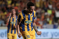 Fotball<br /> Foto: imago/Digitalsport<br /> NORWAY ONLY<br /> <br /> Thomas De Vincendi celebrate a goal during their Champions League third qualifying round second leg against HJK Helsinki at GSP stadium in Nicosia, Cyprus, Tuesday, August 6, 2014 APOEL vs HJK Helsinki Champions League 2014/2015