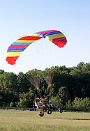An ultralight aircraft takes off from Randall Airport in Middletown, N.Y. July 2,2005.