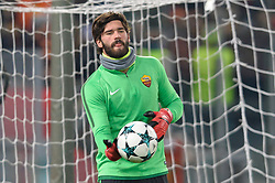 December 5, 2017 - Rome, Italy - Alisson Becker during the Champions League football match A.S. Roma vs  Qarabag at the Olympic Stadium in Rome, on december 05, 2017. (Credit Image: © Silvia Lore/NurPhoto via ZUMA Press)