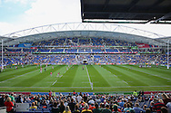 Stadium view during the Rugby World Cup Pool B match between South Africa and Japan at the Community Stadium, Brighton and Hove, England on 19 September 2015. Photo by Phil Duncan.
