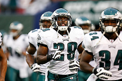 Philadelphia Eagles running back LeSean McCoy #29 enter the field before the NFL game between the Philadelphia Eagles and the New York Jets on September 3rd 2009. The Jets won 38-27 at Giants Stadium in East Rutherford, NJ.  (Photo By Brian Garfinkel)