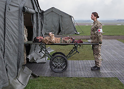 26/03/2014.  A new field medical hospital was showcased today as the British Army revealed it's new specialist, combat and command skills formation today. This new part of the Army will be made up of 36000 Regular and Reserve soldiers, which is a third of the army as a whole and supports the logistics of operations both in the UK and abroad.  The command will officially launch on the 1 Apr 14.  Alison Baskerville/LNP