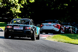 Michael Knibbs pictured while competing in the BRSCC Mazda MX-5 SuperCup Championship. Picture taken at Cadwell Park on August 1 & 2, 2020 by BRSCC photographer Jonathan Elsey