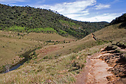 View of Horton's Plains National Park showing upland grassland and montane forest vegetation
