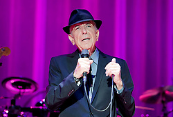 File photo dated 08/09/12 of singer, songwriter and poet Leonard Cohen, who has died aged 82.