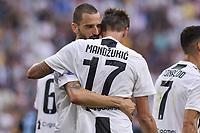 Mario Mandzukic Juventus celebrtes scoring with Leonardo Bonucci Esultanza gol <br /> Torino 25-08-2018 Allianz Stadium Football Calcio Serie A 2018/2019 Juventus - Lazio Foto OnePlusNine / Insidefoto