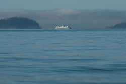 Ferry off Orcas Island, San Juan Islands, Washington, US