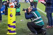 Match Day Football being photographed by Paul Hazelwood, Brighton & Hove Albion FC Club Photographer ahead of the Premier League match between Brighton and Hove Albion and Crystal Palace at the American Express Community Stadium, Brighton and Hove, England on 29 February 2020.