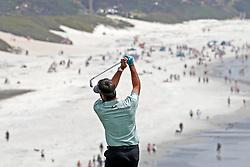 June 11, 2019 - Pebble Beach, CA, U.S. - PEBBLE BEACH, CA - JUNE 11: PGA golfer Bubba Watson plays the 9th hole during a practice round for the 2019 US Open on June 11, 2019, at Pebble Beach Golf Links in Pebble Beach, CA. (Photo by Brian Spurlock/Icon Sportswire) (Credit Image: © Brian Spurlock/Icon SMI via ZUMA Press)