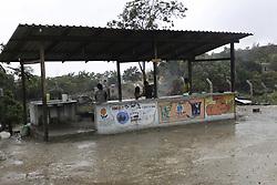 April 16, 2018 - Pacaraima, Brazil - PACARAIMA, RR - 16.04.2018: WARAO INDIGENOUS SHELTER IN PACARAIMA - Shelter in Pacaraima / RR on the border with Venezuela where the indigenous people of the Warao ethnic group live in Venezuela. (Credit Image: © Fabio GonçAlves/Fotoarena via ZUMA Press)