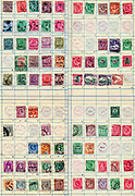 A collection of old stamps from different parts of the British Empire Philately is the study of postage stamps and postal history.