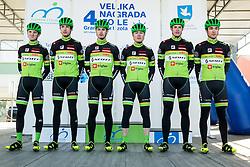 PRIMOŽIČ Jaka (SLO) of KK Kranj, LOGAR Tadej (SLO) of KK Kranj, ŠVAB Jernej (SLO) of KK Kranj, ČOTAR Luka (SLO) of KK Kranj, ZUPAN Miha (SLO) of KK Kranj, DRINOVEC Matej (SLO) of KK Kranj during the UCI Class 1.2 professional race 4th Grand Prix Izola, on February 26, 2017 in Izola / Isola, Slovenia. Photo by Vid Ponikvar / Sportida