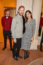 Henry Conway and Yasmin Mills at the reopening of the Cartier Boutique, New Bond Street, London, England. 31 January 2019. <br /> <br /> ***For fees please contact us prior to publication***