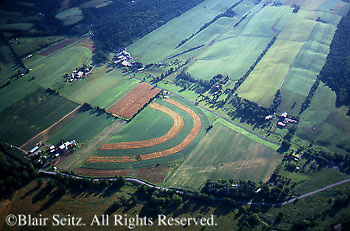 Southcentral Pennsylvania, Aerial Photographs, Farmlands, Cultivation and Contour Farming, York Co., PA