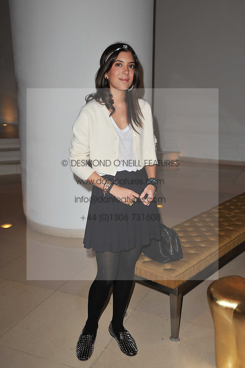 Lebanese jewellery designer NOOR FARES at a Burns Night dinner in aid of cancer charity CLIC Sargent held at St.Martin's Lane Hotel, London on 25th January 2011.