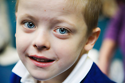 Pupil with physical disabilities in a special school,