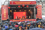 January 26, 2020, London, England, United Kingdom: A Hong Kong Acapella Group entertaining audience during celebrations and a parade to mark Chinese New Year in London, Sunday, Jan. 26, 2020. (Credit Image: © Vedat Xhymshiti/ZUMA Wire)