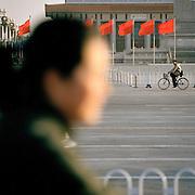 Locals in Tiananmen Square, Beijing, China