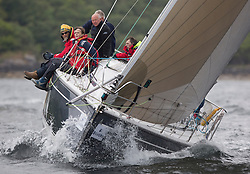Day one of the Silvers Marine Scottish Series 2016, the largest sailing event in Scotland organised by the  Clyde Cruising Club<br /> Racing on Loch Fyne from 27th-30th May 2016<br /> <br /> GBR8569T, Delinquent, Alan Moore, CCC/CYCA, Dehler 34.<br /> <br /> Credit : Marc Turner / CCC<br /> For further information contact<br /> Iain Hurrel<br /> Mobile : 07766 116451<br /> Email : info@marine.blast.com<br /> <br /> For a full list of Silvers Marine Scottish Series sponsors visit http://www.clyde.org/scottish-series/sponsors/
