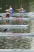 Hazewinkel. BELGUIM  GBR W2-. bow Bev GOUGH and Rose CARSLAKE. 2004 GBR Rowing Trials - Rowing Course, Bloso, Hazewinkel. BELGUIM. [Mandatory Credit Peter Spurrier/ Intersport Images]