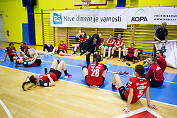 Players of ZRK Mlinotest Ajdovscina after handball match between ZRK Mlinotest Ajdovscina and RK Zagorje in 17th Round of Slovenian Women Handball League 2015/16 on April 6, 2016 in Sports hall Police Ajdovscina, Ajdovscina, Slovenia. Photo By Urban Urbanc / Sportida